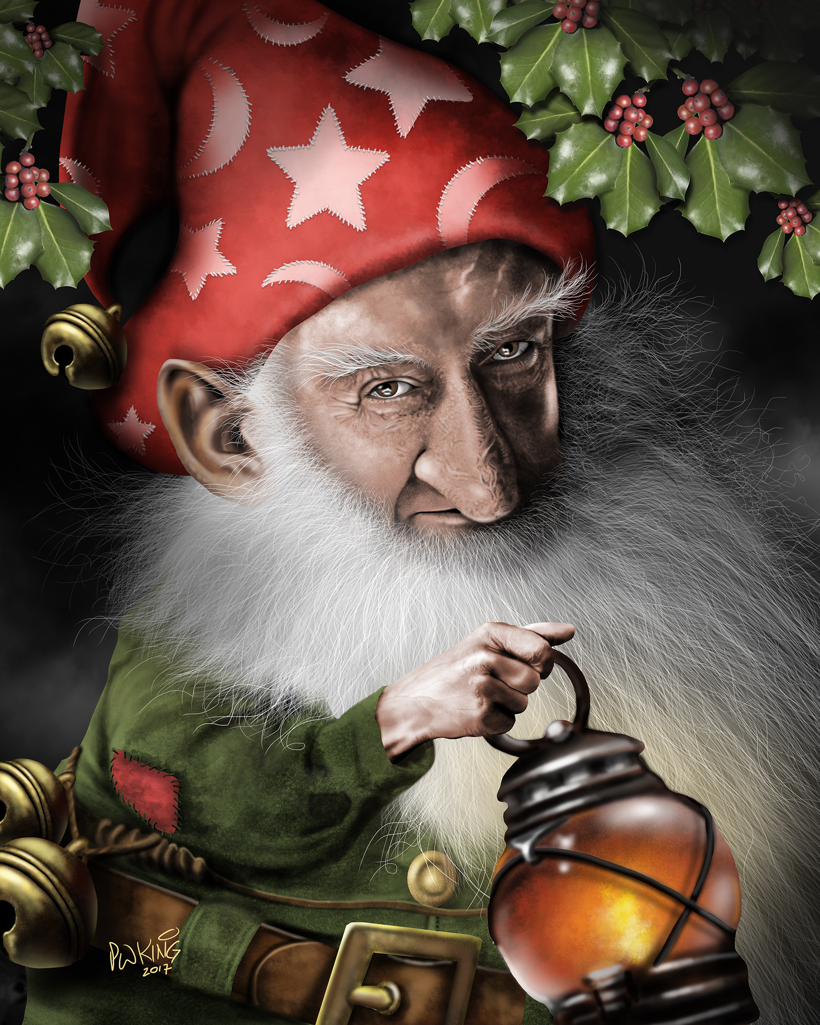 christmas gnome balin caricature - Christmas Gnome